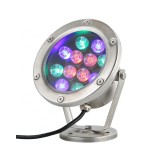 High Quality 18W IP68 Waterproof UL Quality White Light and RGB Light (Color Changed by Power Switch) UL Quality White Fountain Led Underwater Light